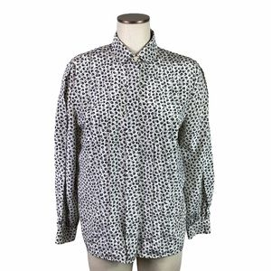 Vintage Tulip Floral Print Collared Up Blouse 10
